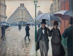 Asymmetrial - Paris Street; Rainy Day by Gustave Caillebotte  French, (1848-1894) Oil on canvas 212.2 x 276.2 cm (83 1/2 x 108 3/4 in.), Art Institute of Chicago