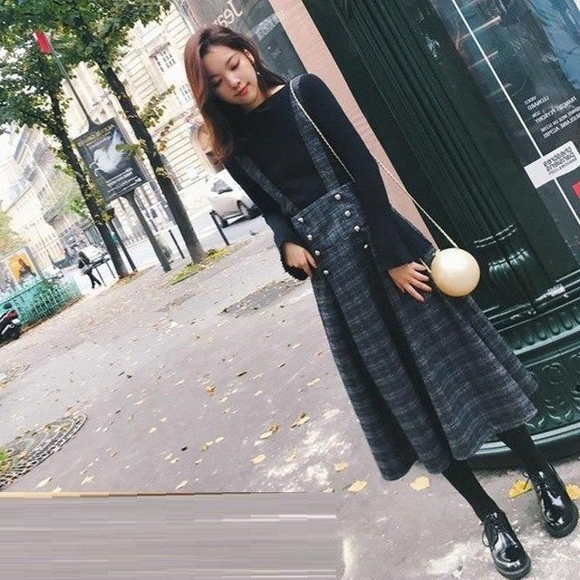 Ensemble Outfits Crop Ropa Deportiva Mujer Summer Women Autumn Winter Vintage Kawaii Tops Sweater And Skirt Two Pieces Set MODEL 2