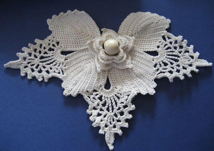 crochet irish lace  | Handmade crocheted irish lace motif. 100% cotton.