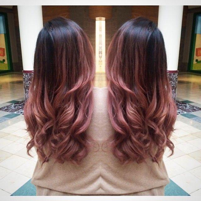 Black hair with brown dip dye