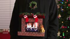 """How to Make the Best """"Ugly Christmas Sweater"""" Ever, Complete with Animated Burning Fireplace « Holidays"""