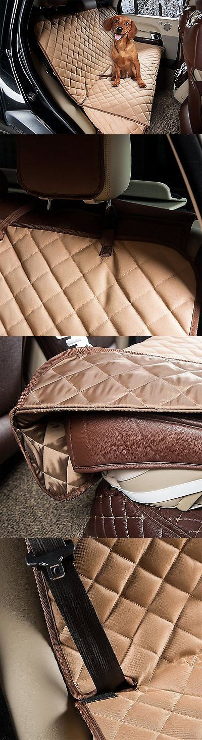 Car Seat Covers 117426: Zq Waterproof Diamond Quilted Bench Seat Cover Car Seat Protector For Pets Tan BUY IT NOW ONLY: $48.83