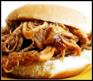 crockpot pulled porkSlow Cooker Recipe, Barbecues Pulled, Pork Recipe, Crock Pots, Double Duty, Bbq Sauces, Pork Sandwiches, Barbecues Mac, Pulled Pork