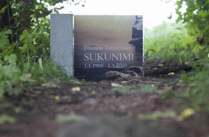 Lasinen hautakivi (malli Kajo-Y)  Glassy memorial stone /  Grave stone glass (model Kajo-Y)