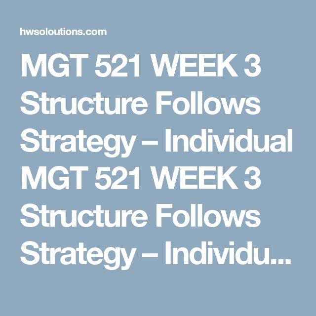 MGT521 Week 3 SWOT Analysis