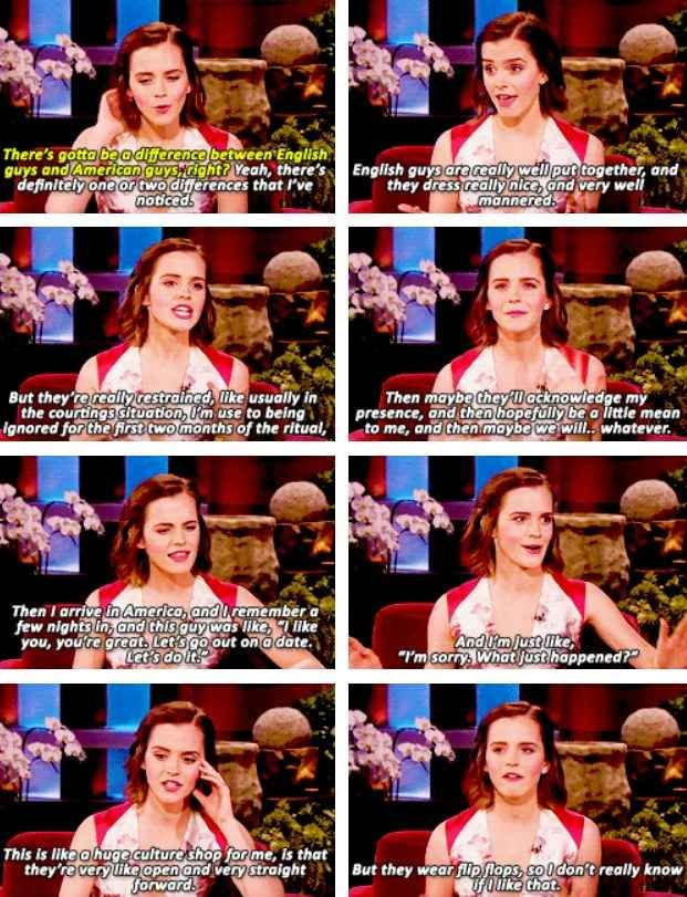 She hates flip flops...   29 Reasons Emma Watson Is The Light Of Every Human's Life