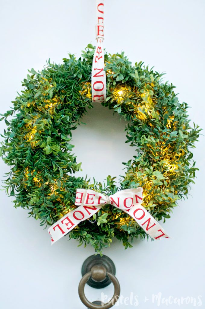 How To Make A Faux Boxwood Wreath That Lights Up ...love this...