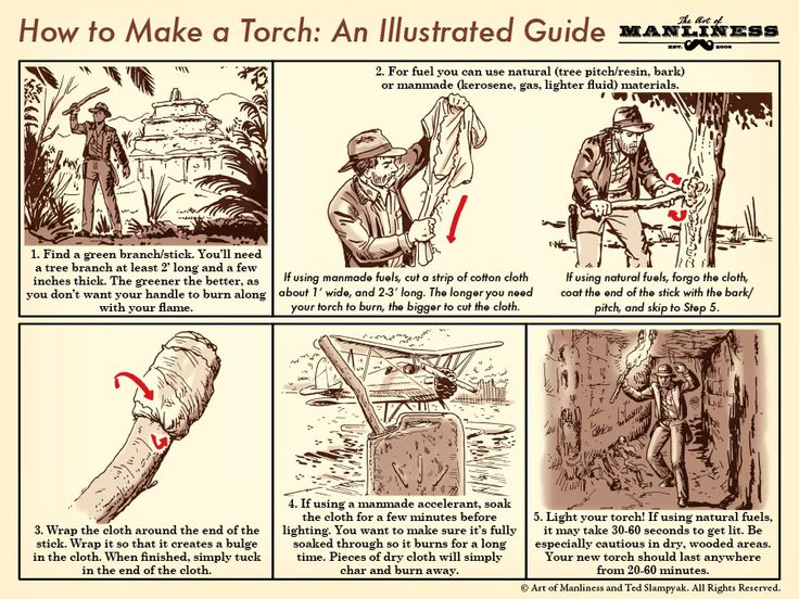 How to Make a Torch Like Indiana Jones