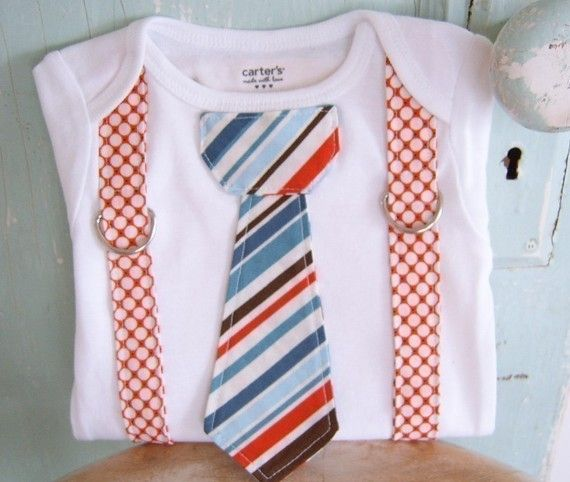 Onesie Pattern - PDF - with tie and suspenders 3 month to 18 months