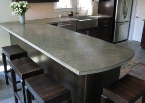 That's a really nice grey slate kitchen worktop.