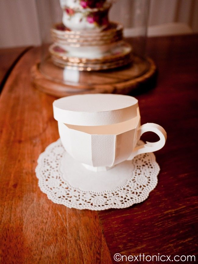 Paper Tea Cups template and how-to