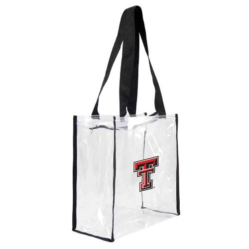 Little Earth Productions Texas Tech University Clear Square Tote Bag