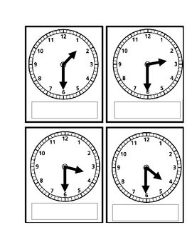 These analog and digital time cards can be used to play Go Fish or Memory or can be used for basic flashcards.  These cards include telling time to...