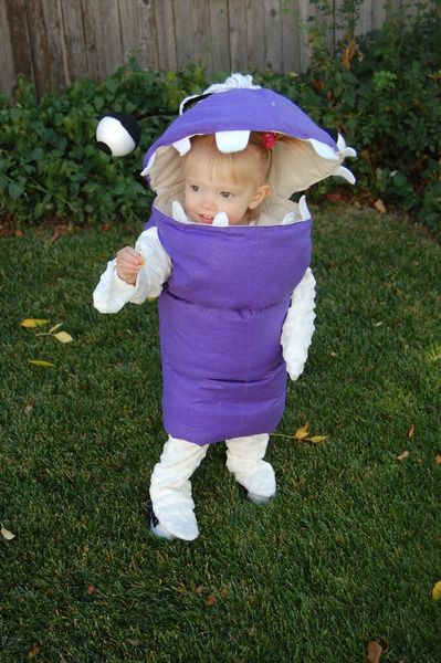 6 Adorable Handmade Pixar Costumes - this Boo from Monsters Inc is so cute!