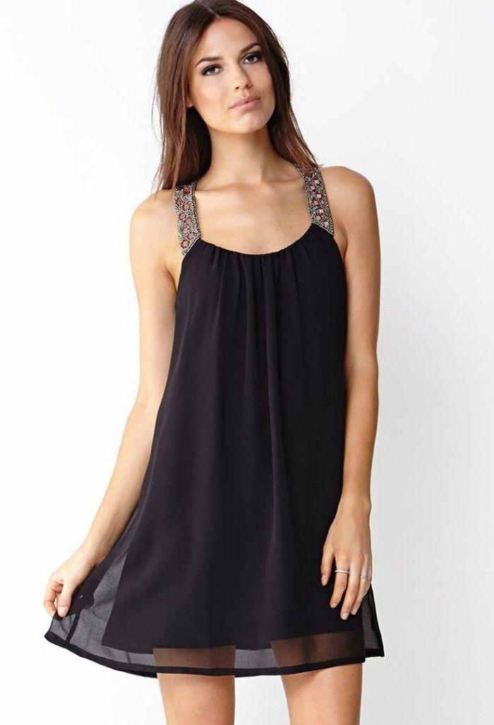 Look do dia – Vestidos pretos de chiffon e/ou seda