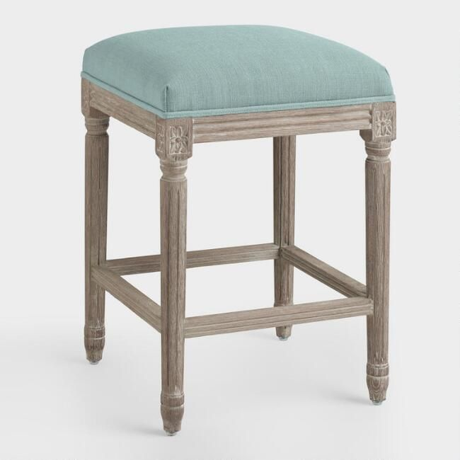 Natural Linen Paige Counter Stool