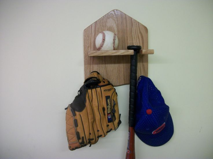 Baseball bat and ball display Rack by Clemswshop on Etsy, $12.00