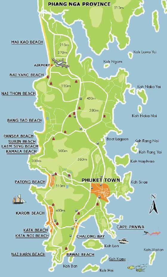 Carte de Phuket
