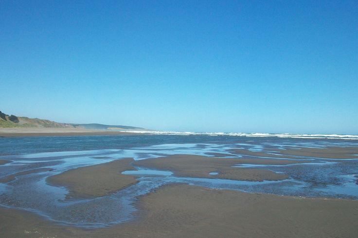 Estero Nilahue... unión con el mar.