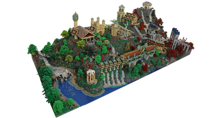Lego enthusiasts Alice Finch and David Frank created a massive brick replica of Rivendell, the Elven outpost from 'The Lord of the Rings' trilogy.