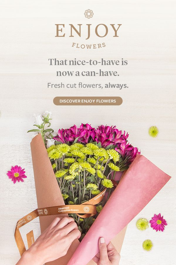 Enjoy Flowers is a premium florist bringing joy, beauty and peace of mind, by delivering a fresh assortment of flowers once or twice a month to your doorstep.