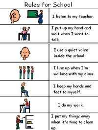 autism class rules | So far the teachers say it works well especially for students who ...
