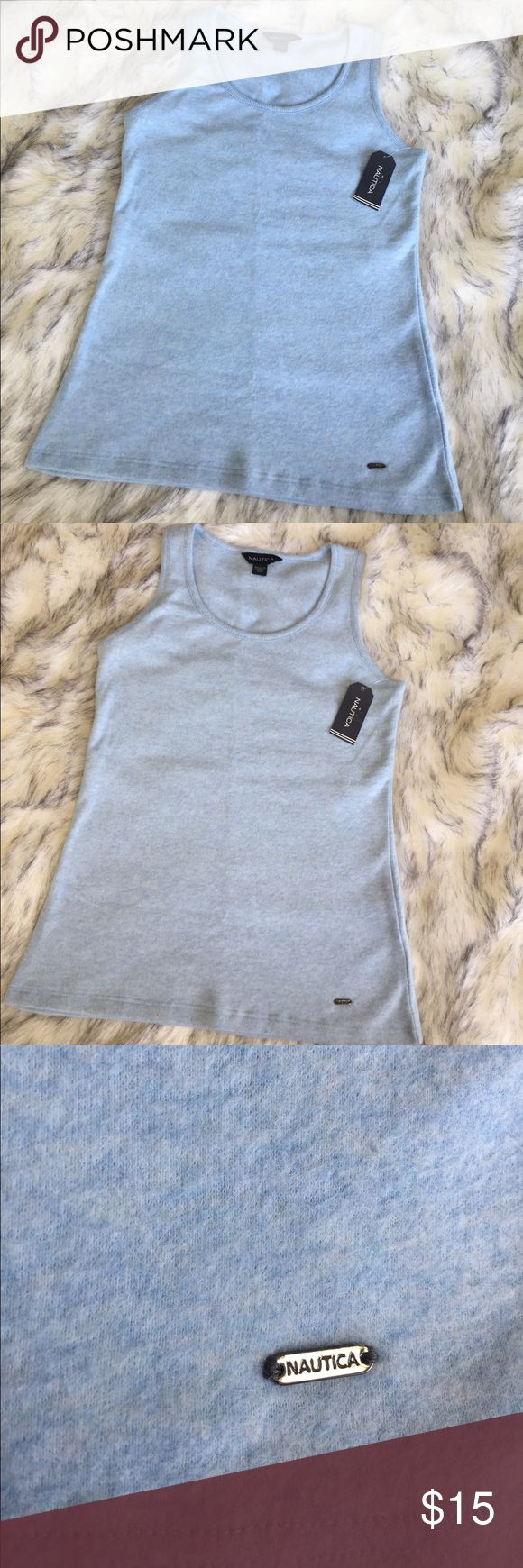 Nautica Tank Top NWT Brand new Tank Top by Nautica! Beautiful light blue color & made with very soft material. The size says XS but it looks more like a small & FYI this is not tight fighting! Nautica Tops Tank Tops