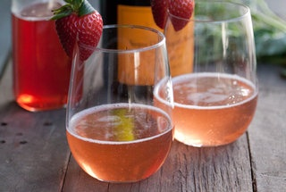 Strawberry Basil Sparkler | What's Gaby Cooking