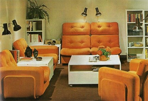 vintage 70s mod orange ikea interior from 1973 catalog future pinterest discover more. Black Bedroom Furniture Sets. Home Design Ideas