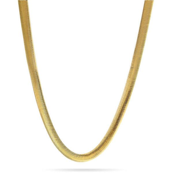 Bling Jewelry Bling Jewelry Mens 8mm Wide Gold Tone Stainless Steel... ($20) ❤ liked on Polyvore featuring men's fashion, men's jewelry, men's necklaces, gold tone, mens pendants, mens stainless steel chain, mens necklaces, mens stainless steel chain necklace and mens chain necklace