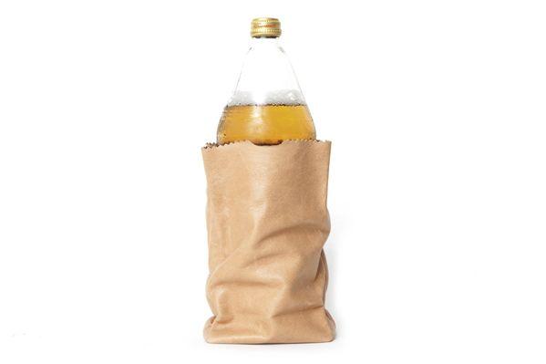 Small Bodega Bag - Aka The 40oz Bodega Bag 100% Full Grain Leather Designed & Manufactured in LA Limited to 50 pcs. | STAMPD