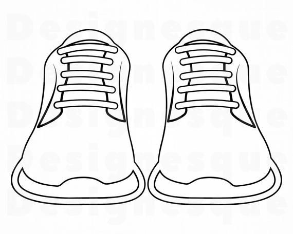 Sneakers Outline 3 Svg Sneakers Svg Running Shoes Svg Etsy In 2021 Shoes Clipart Sneaker Design Sketches Iphone Case Stickers