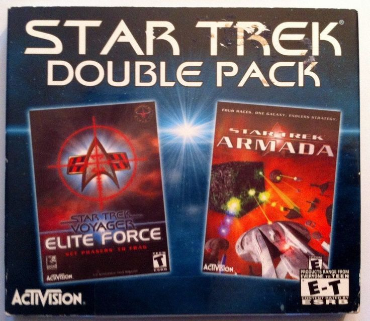 Star Trek Double Pack Armada and Voyager Elite Force (PC Games, 2000)