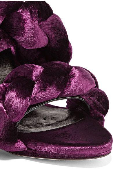Marco De Vincenzo - Braided Velvet Sandals - Grape - IT37.5