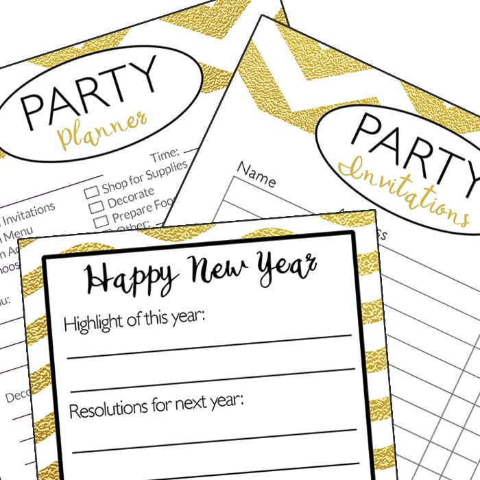 Plan A Kid Friendly New Years Eve Party With Free Printable Planner