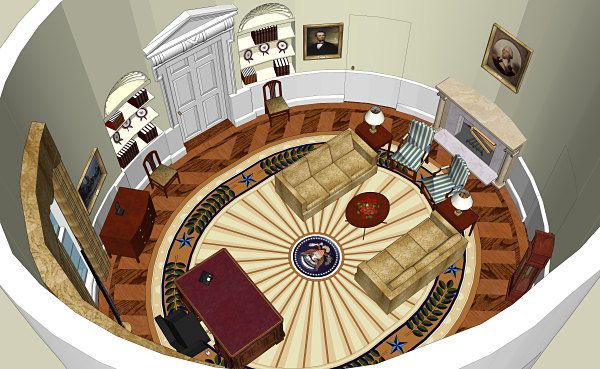West Wing Office Space Layout Circa 1990 White House Floor