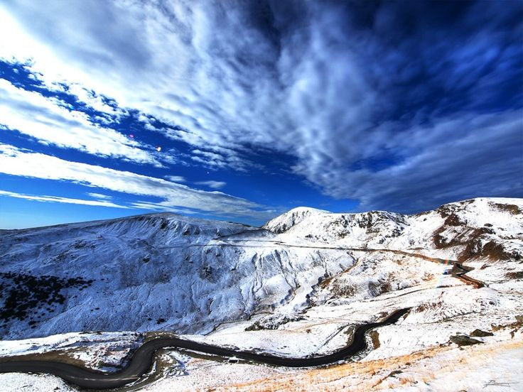 The Transalpina  This is the highest point — Urdele Pass — on the Transalpina in the Southern Carpathians of Romania.