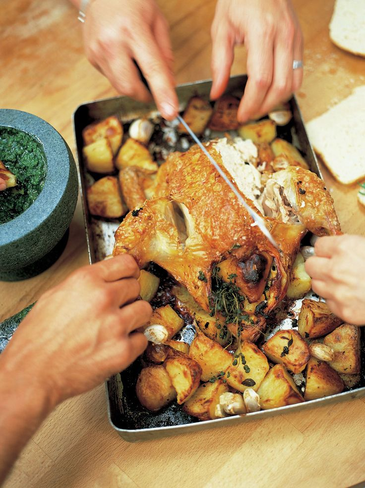 roast chicken with lemon & rosemary roast potatoes | Jamie Oliver | Food | Jamie Oliver (UK)