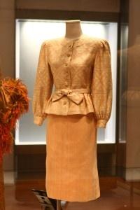Jacket made from silk brocade (praewa) from northeastern Thailand, Thai silk skirt