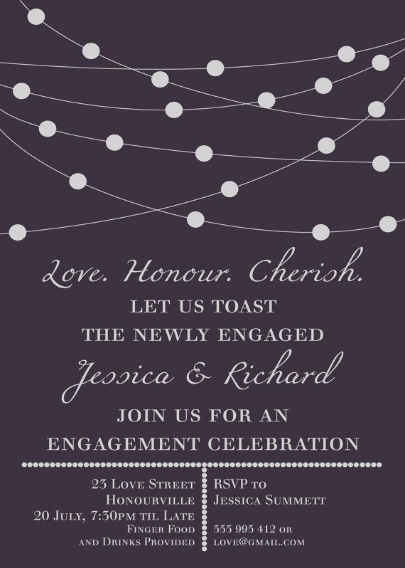 19 best engagement invitations images on pinterest engagement items similar to sophisticated engagement invitation customised for your event print it yourself classy print yourself diy file on etsy solutioingenieria Choice Image