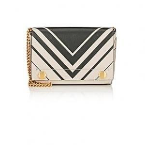 Anya Hindmarch Chalk And Dark-Olive Leather Ephson Shoulder Bag - 50% Off