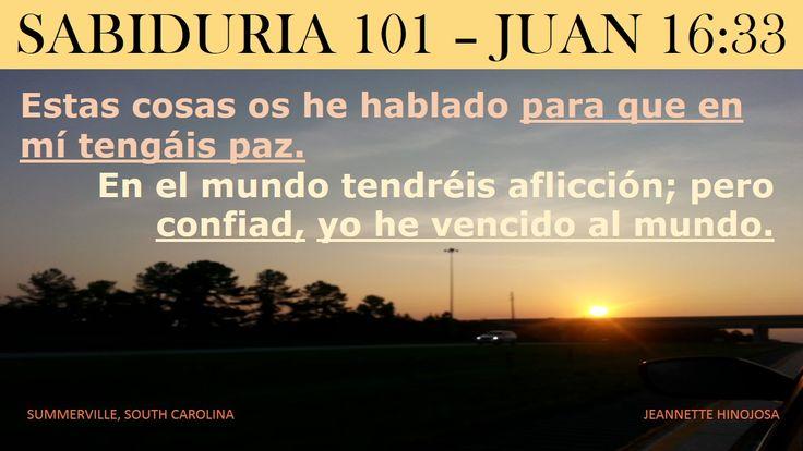 JUAN 16:33 - SUMMERVILLE, SOUTH CAROLINA