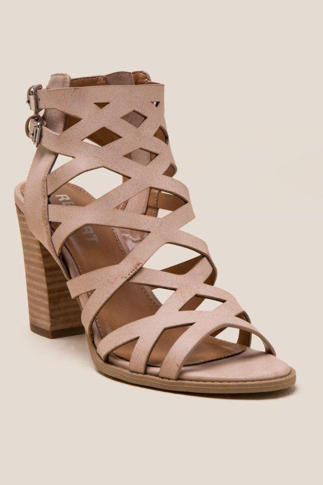 e0c7b702f2 Report Roux Criss Cross Strap Block Heel | Shoes | Shoes, Heels ...