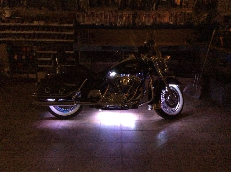 Think this setup will turn some heads? The team at our West Carrollton store used their skills to light up the night, when they recently added a multi-colored LED accent lighting kit to this gorgeous Harley-Davidson! Day or night, this gorgeous machine is now hard to miss!
