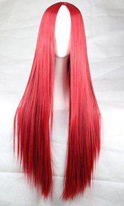 Photo Pal 75cm Cosplay Perruque Longue Raides Cheveux Synthétiques Halloween Soirée Déguisement Plusiers Couleurs