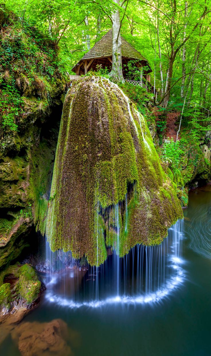 Most Beautiful Waterfall in the World Bigar Romania. Located in the nature…
