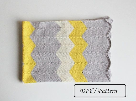 Do knit Yourself! Why not to knit yourself this colorful chevron baby blanket Emma for your baby or for your friends baby?! The baby will be warmly covered with the blanket made by you!  ♥ This listing is an INSTANT DOWNLOAD pattern (PDF is a 2 pages download file with the written instructions and photos).  ♥ This pattern is written in standard US terms.  ♥ This blanket is knitted from 100 % Merino wool, however, any style of yarn will work to create this knitting.  ♥ Skill level – Easy…