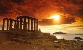 sunset in Cape Sounion!