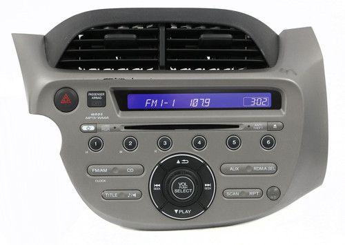 2009-13 Honda Fit Radio AM FM MP3 CD Player w Aux Part Number 39100-TK6-A011-M1