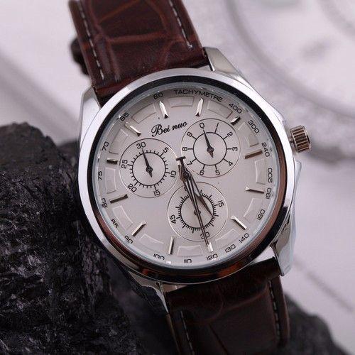 Elegantní pánské hodinky s hnědým koženým páskem a bílým víceúčelovým ciferníkem + POŠTOVNÉ ZDARMA Na tento produkt se vztahuje nejen zajímavá sleva, ale také poštovné zdarma! Využij této výhodné nabídky a ušetři na poštovném, stejně …